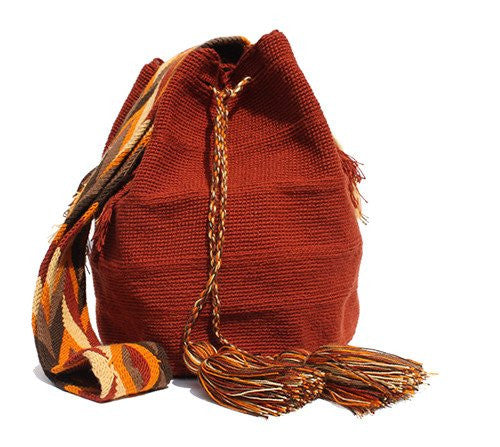 Wayuu Crossbody Mochila Bag - Terracotta