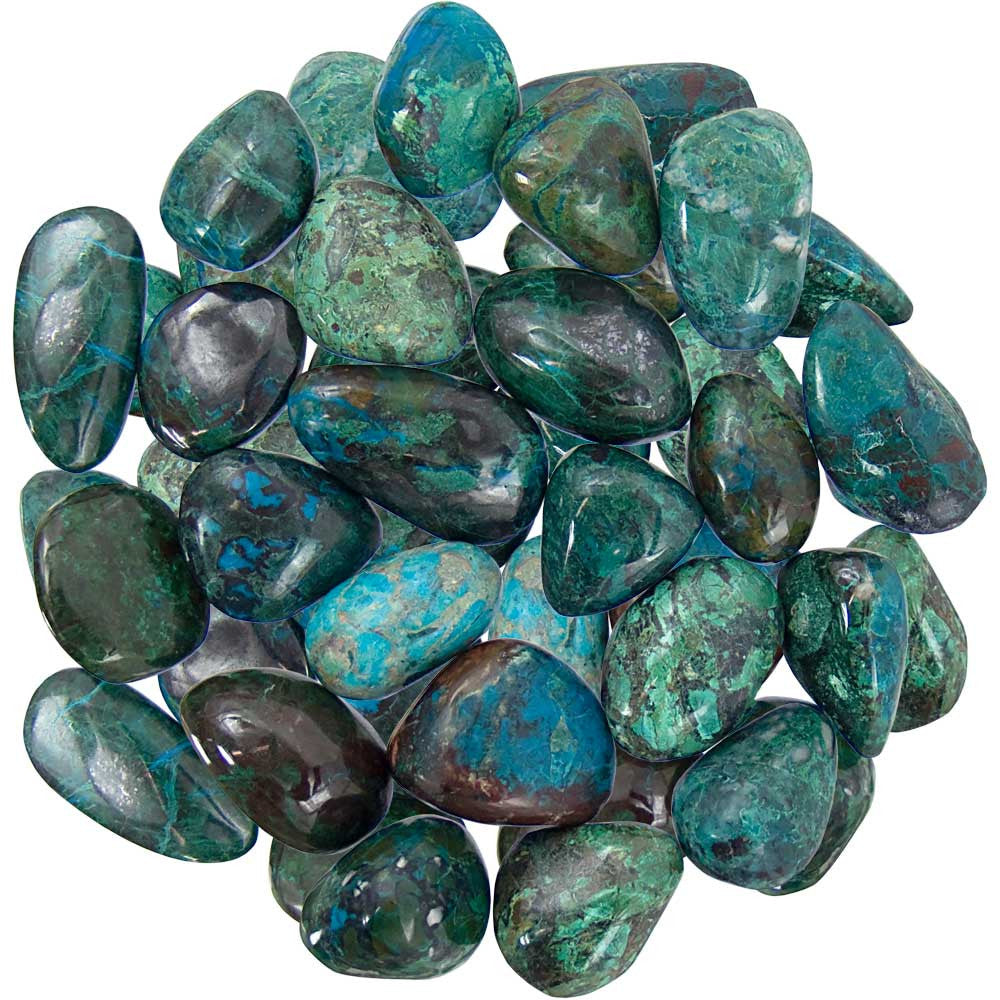 Tumbled Chrysocolla Gemstones