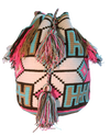 Wayuu Crossbody Mochila Bag - Pink & Teal