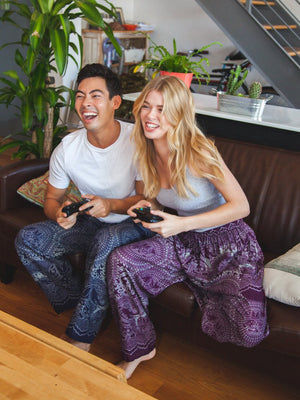 Wendi Plum Unisex Loungers by The Elephant Pants
