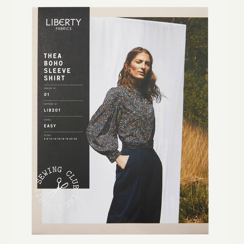 Liberty of London - Thea Boho Sleeve Shirt Sewing Pattern (Paper)