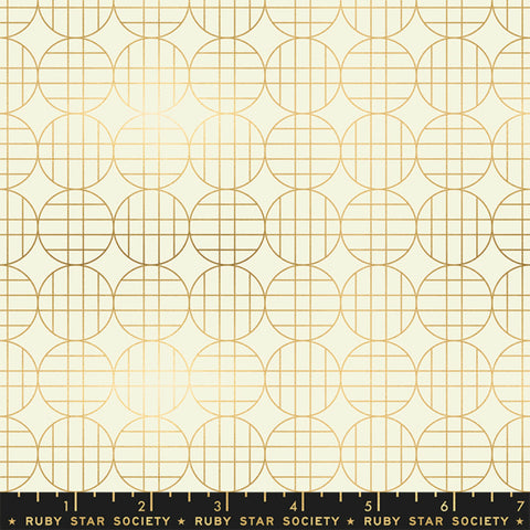 Moon Grid in Gold Metallic