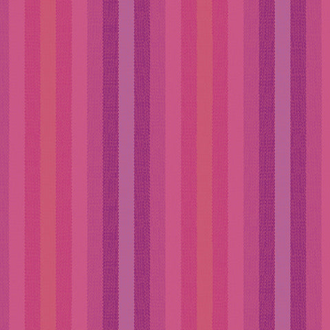Kaleidoscope Woven Stripes in Magenta