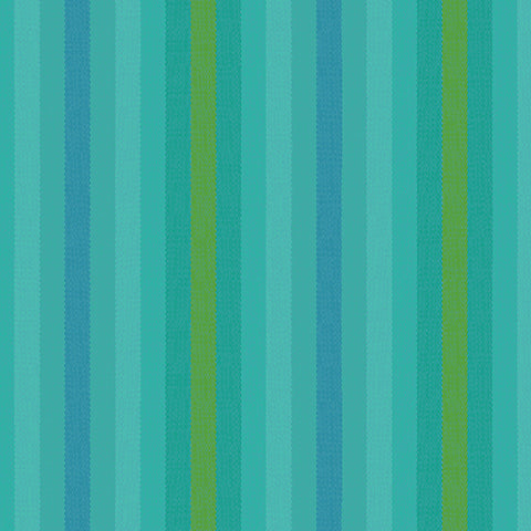 Kaleidoscope Woven Stripes in Teal