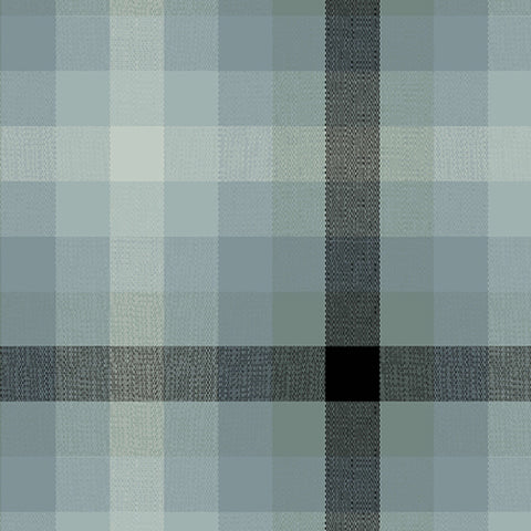 Kaleidoscope Woven Plaid in Charcoal
