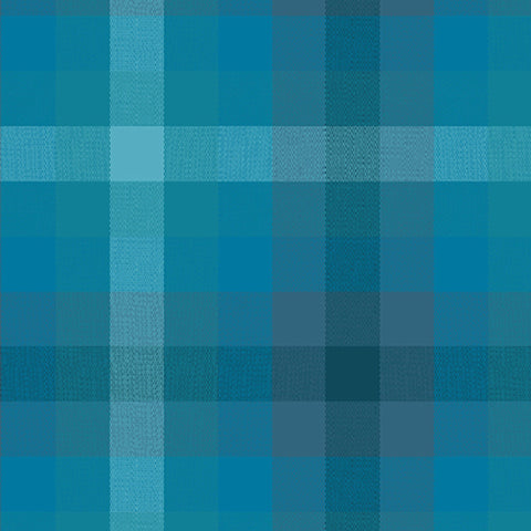 Kaleidoscope Woven Plaid in Denim