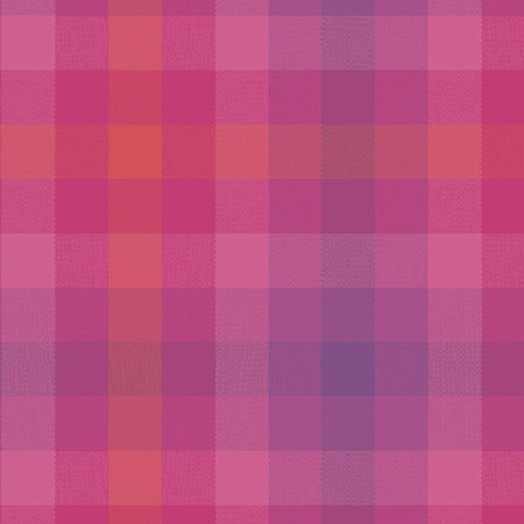 Kaleidoscope Woven Plaid in Magenta
