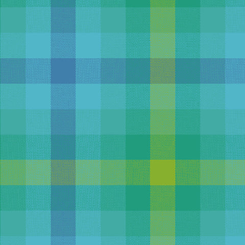 Kaleidoscope Woven Plaid in Teal