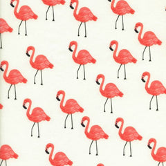 Flamingos COTTON LAWN in Ivory