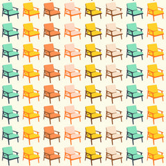 Chairs in Cream Multi