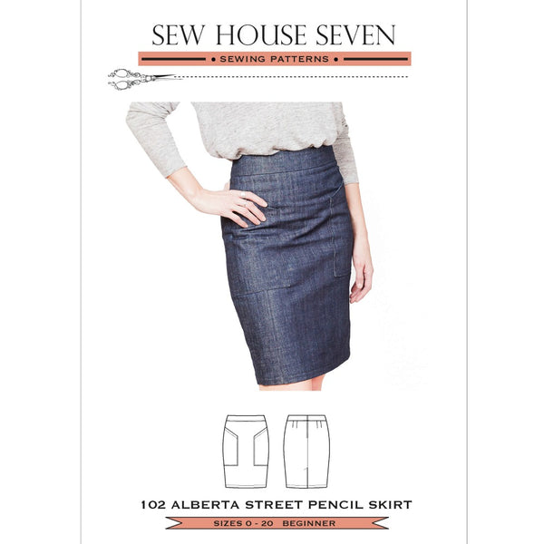 Sew House Seven - The Alberta Street Pencil Skirt Pattern (paper)