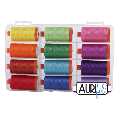 Aurifil Thread Set - The Bright Collection 50wt (set of 12)