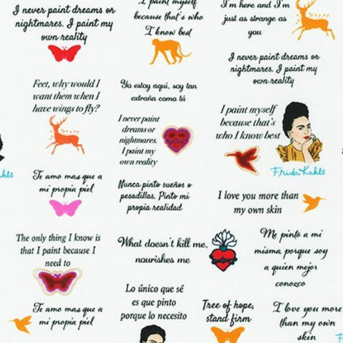 Frida Quotes in White