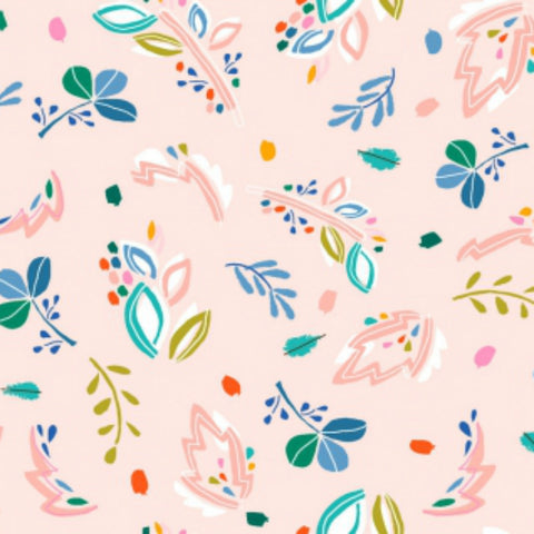 Abstract Floral in Blush