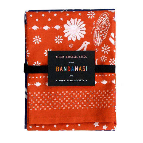 Ruby Star Society - Bandanas set of 2 in Navy & Persimmon