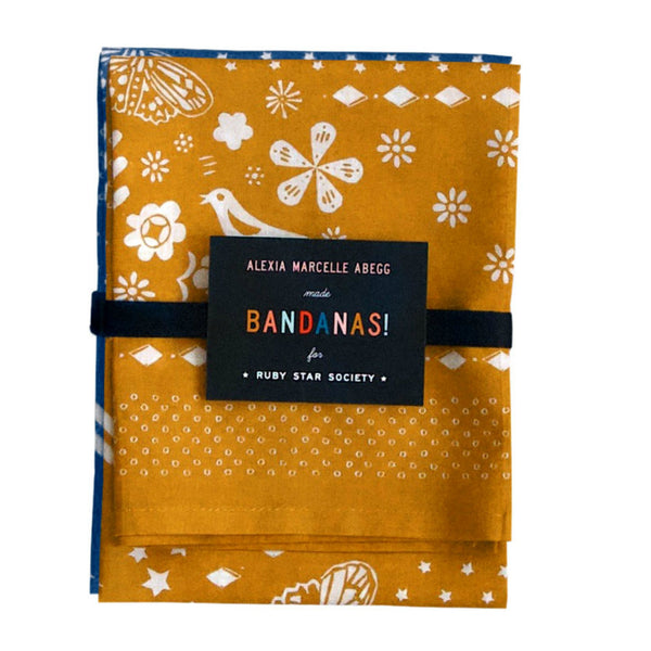 Ruby Star Society - Bandanas set of 2 in Indigo & Earth
