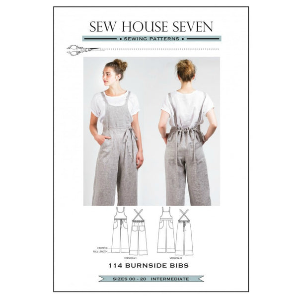Sew House Seven - Burnside Bibs Pattern (paper)