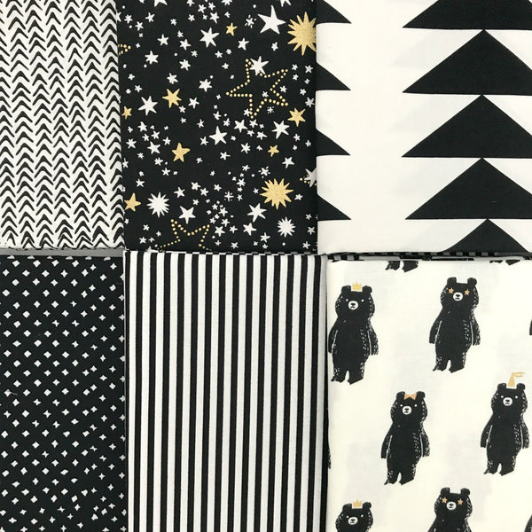 Black & White Half Yard Bundle