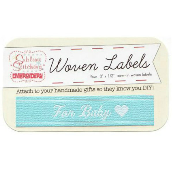 Woven Labels - For Baby in Blue