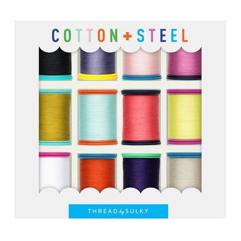 Cotton + Steel - Sulky Thread Set - Basics Box Pack of 12