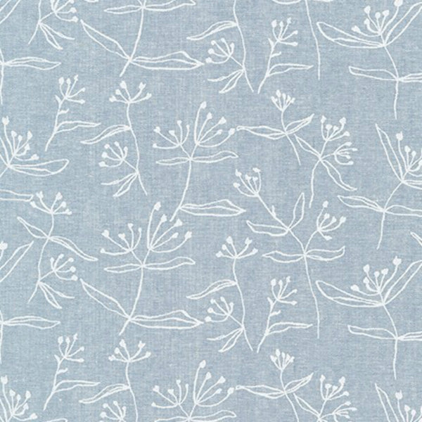 Beachgrass (cotton / linen) in Chambray