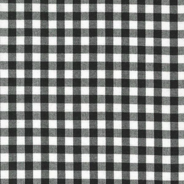 "Carolina Gingham 1/4"" in Black"