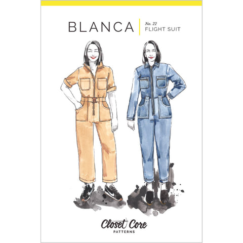 Closet Core Patterns - Blanca Flight Suit Pattern (paper)