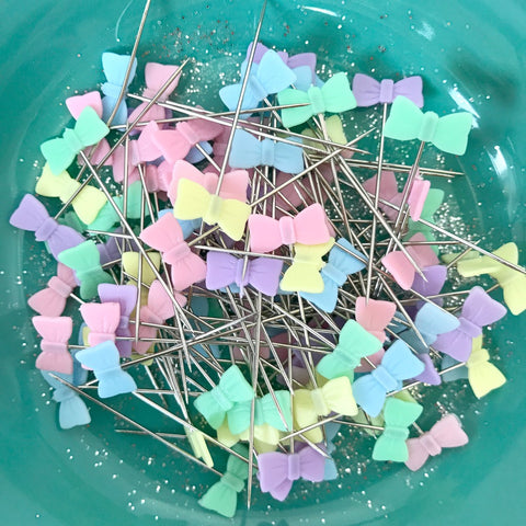 Pastel Bow Pins (100 count)