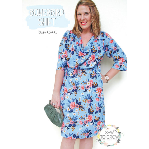 Sew to Grow - Bowerbird Shift Dress + Top Pattern (paper)
