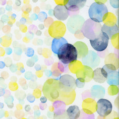 Bubbles Watercolor COTTON LAWN in Multi