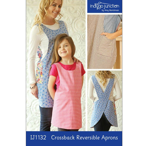Indygo Junction - Crossback Reversible Adult and Child Apron Pattern (paper)