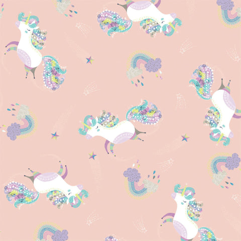 Dancing Unicorns in Blush Glow in the Dark
