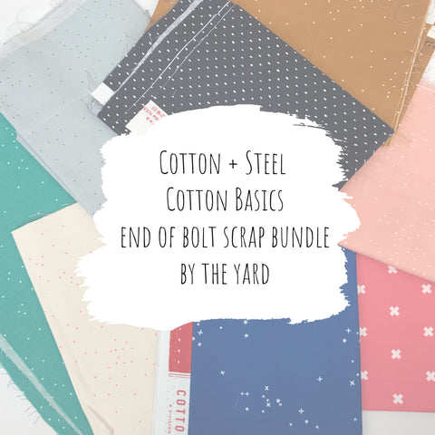 Cotton + Steel - Basics (Cotton) End of Bolt Scrap Bundle (By the Yard)