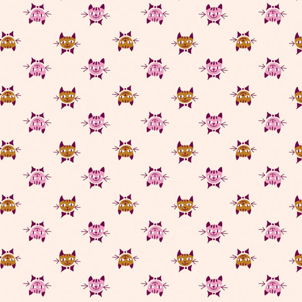 Calico Cats in Peach