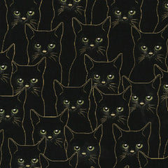 Cats in Black / Gold Metallic