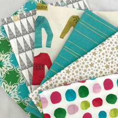 Aqua Christmas Fat Quarter Bundle
