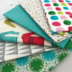Aqua Christmas Yardage Bundle