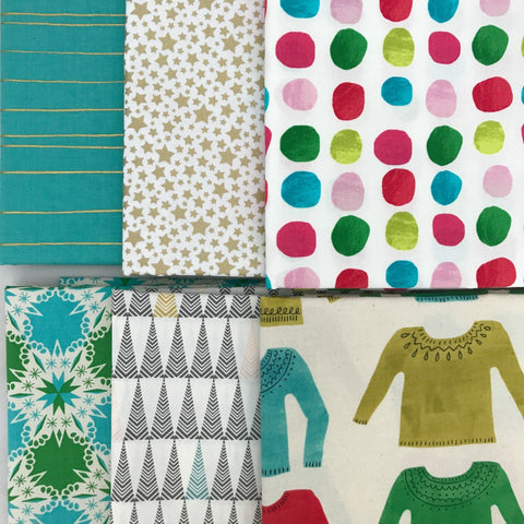 Aqua Christmas Half Yard Bundle