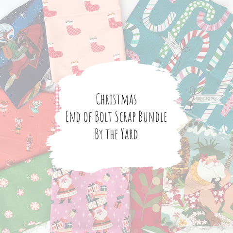 Christmas - Cotton End of Bolt Scrap Bundle (By the Yard)