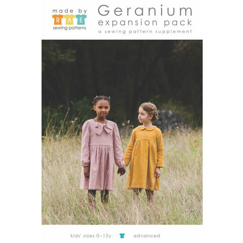 Made by Rae Geranium Dress Expansion Pack Sizes 0-12 (Paper Pattern)