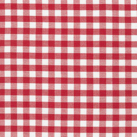 "Carolina Gingham 1/4"" in Crimson"