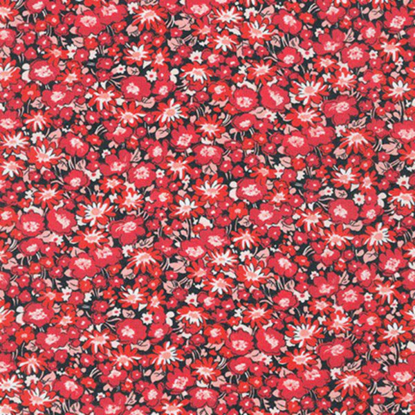 London Calling COTTON LAWN in Crimson