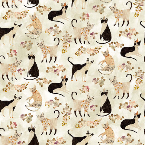 Cats in Beige / Multi
