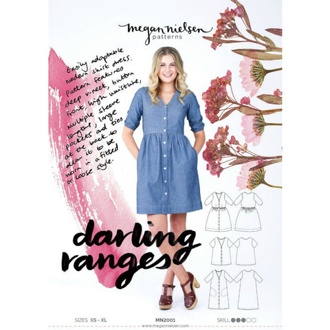 Megan Nielsen Patterns - Darling Ranges Dress and Blouse Pattern (paper)