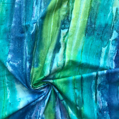 Dew Drops Stripe in Blue / Green Metallic