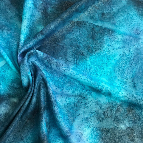Dew Drops in Blue / Turquoise Metallic