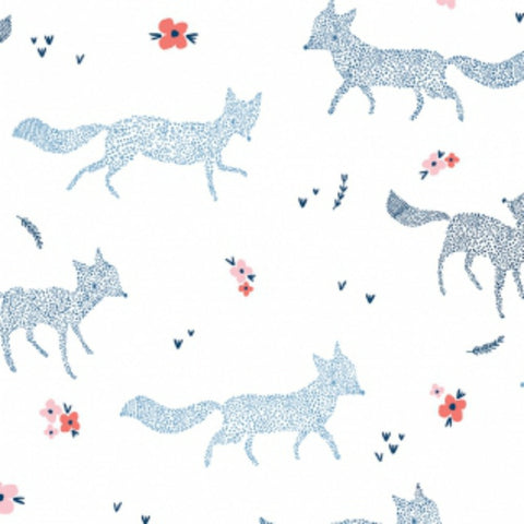 Dotted Foxes in White