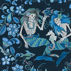 Esqueletos Del Mar (skeletons from the sea) in Navy / Blue Tonal