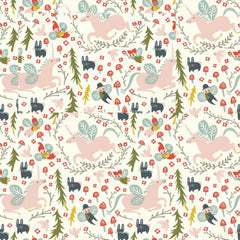 Enchanted Unicorns in Cream Organic
