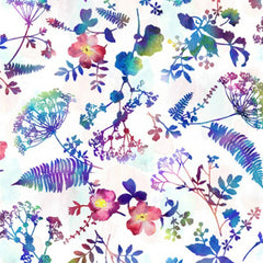 Electric Garden - Pressed Flowers in Jewel (digital spectrum print)